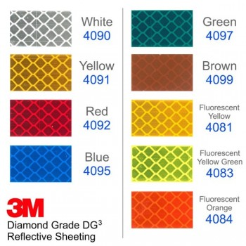 3M-4083 (24inch x 50yard) 3M™ DIAMOND GRADE REFLECTIVE, FLUORESCENT YELLOW GREEN