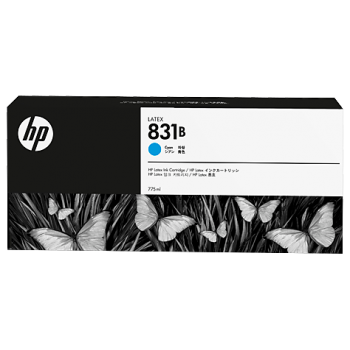 HP 831B 775-ml Cyan Latex Ink Cartridge (CZ689A)