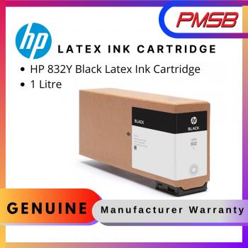 HP 832Y 1 Litre Black Latex Ink Cartridge (4UV05A)