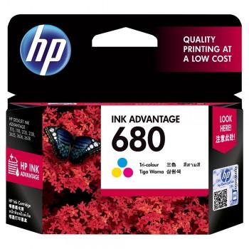 HP 680 Tri-Color Original Ink Advantage Cartridge (F6V26AA)
