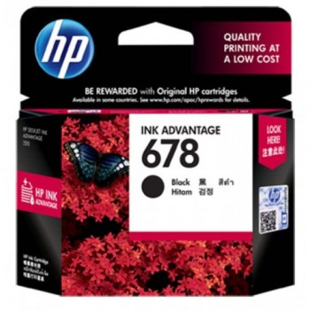HP 678 Black Ink Cartridge (CZ107AA)