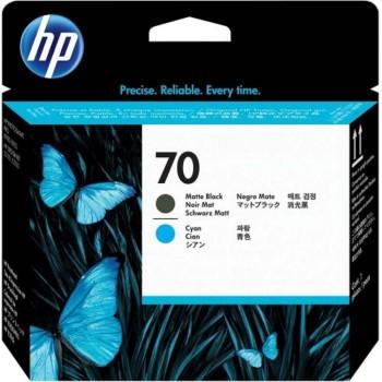 HP 70 DesignJet Printhead - Matte Black/Cyan (C9404A)