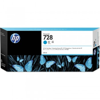 HP 728 300-ml Cyan DesignJet Ink Cartridge (F9K17A)