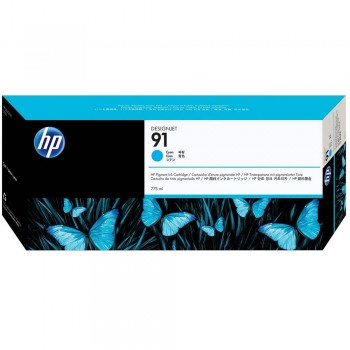 HP 91 DesignJet Pigment Ink Cartridge 775-ml - Cyan (C9467A)