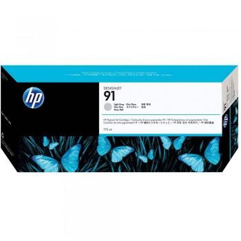 HP 91 DesignJet Pigment Ink Cartridge 775-ml - Light Gray (C9466A)