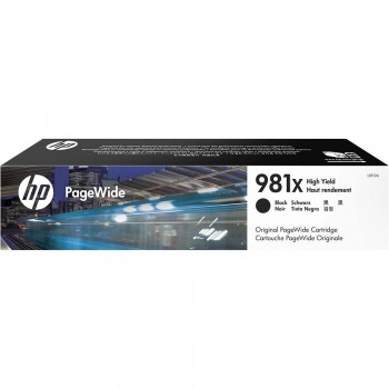 HP 981X High Yield Black Original PageWide Cartridge (L0R12A)