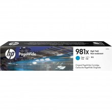 HP 981X High Yield Cyan Original PageWide Cartridge (L0R09A)