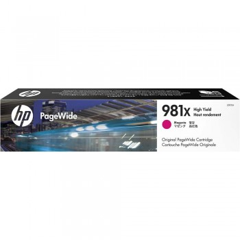 HP 981X High Yield Magenta Original PageWide Cartridge (L0R10A)