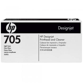 HP 705 DesignJet Printhead/Printhead Cleaner - Light Cyan (CD957A)