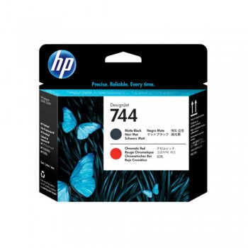 HP 774 Matte Black and Chromatic Red Printhead