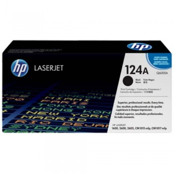 HP 124A Black LaserJet Toner Cartridge (Q6000A)