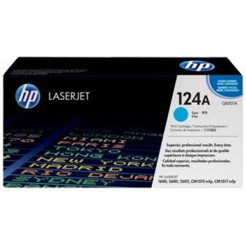 HP 124A Cyan LaserJet Toner Cartridge (Q6001A)