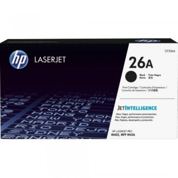 HP 26A Black LaserJet Toner Cartridge (CF226A)