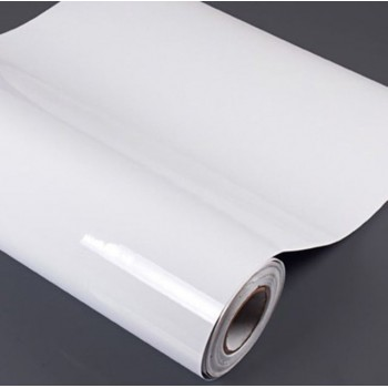 PM2-8113(1.27x50M) OUTDOOR WHITE VINYL STICKER, MATTE